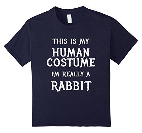 Best Easy College Halloween Costumes (Kids Funny Rabbit Halloween Costume Shirt Easy for Women Men Kids 12 Navy)