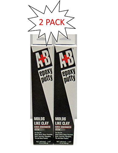A+B 9904K White Rezolin Epoxy Putty Kit - 14 oz. - 2 Pack