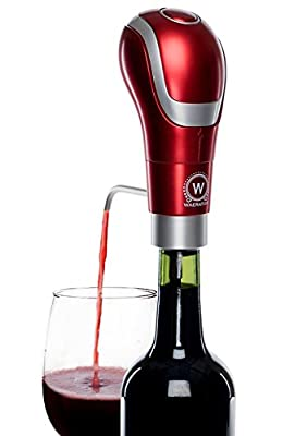 Waerator Instant 1-Button Aeration & Decanter Electric Wine Aerator: Enhance Wine Flavor of Waerator All Ages; Convenient Spout