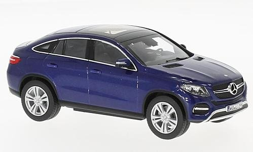 Mercedes GLE Coupe (C292), metallic-blue, 2015, Model Car, Ready-made, Norev - Gle Model