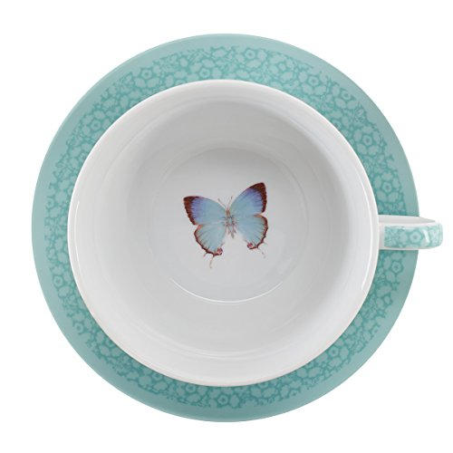 Botanic Butterfly Blessings ''Grace'' Tea-for-One Set by Christian Art Gifts (Image #4)