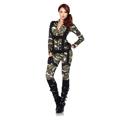 [Pretty Paratrooper Costume - Medium - Dress Size 8-10] (Adult Pretty Paratrooper Costumes)