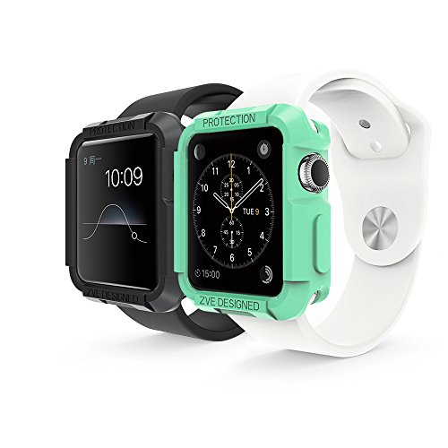 ZVE - Apple Watch Case 2-in-1 Watch Sport / Watch Edition 2015 iWatch Protective Case Cover for Apple Watch (42mm)