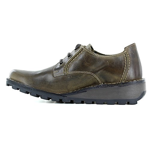 Olive Mixi Womens Brown Brown Shoes Leather Fly Wedge London qYCRTR