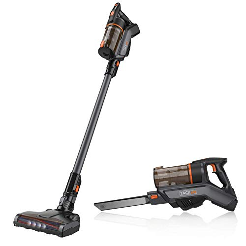 TACKLIFE Cordless Stick Vacuum Cleaner, 2-in-1 Handheld Lightweight with LED Headlight and Wall Mount; Perfect for Carpet, Floor and Pet Hair- VCST01A