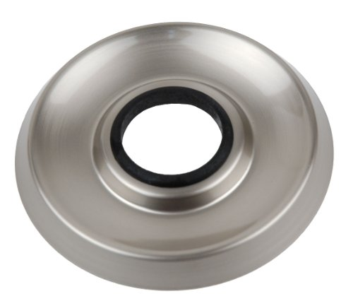 Shower Faucet Flanges (3 Pieces) Fit Delta or Peerless 3-handle Shower Valve, Satin Nickel Finish - By Plumb USA by PlumbUSA (Image #1)