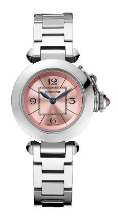 Cartier Miss Pasha Ladies Steel Watch W3140008