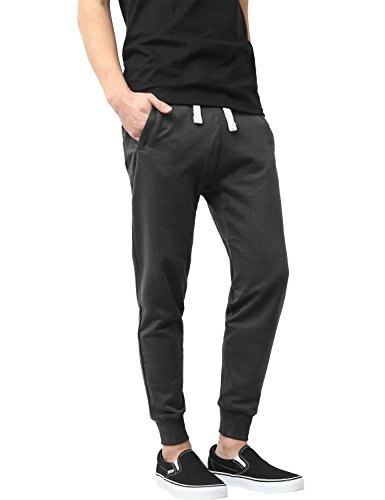 Urban Mens Hat (Hat and Beyond Mens Active Fleece Elastic Trouser Casual Harem Jogger Pants)