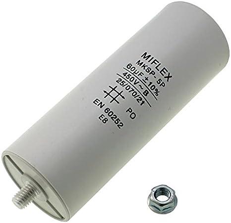 Anlaufkondensator Motorkondensator 60µf 450v 50x119mm Elektronik
