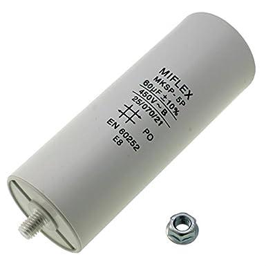 AnlaufKondensator MotorKondensator 20/µF 450V 40x83mm Stecker M8 ; Miflex ; 20uF