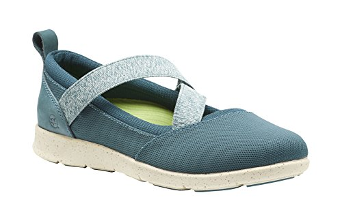 Superfeet Palisade Women's Mary Jane Shoe, Balsam/Turtledove, Leather/Mesh/Stretch Gore, Women's 11 US