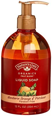 Nature's Gate Organics Fruit Blend Liquid Hand Soap, Mandarin Orange & Patchouli, 12-Ounce Bottle