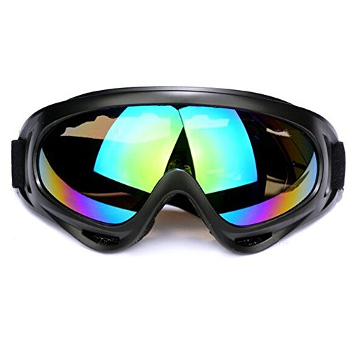 Adjustable UV Protection Windproof Dustproof Outdoor Sports Ski Glasses,Snowboard Goggles Skate Glasses ,CS Army Tactical Military Goggles to Prevent Particulates (Colorful)