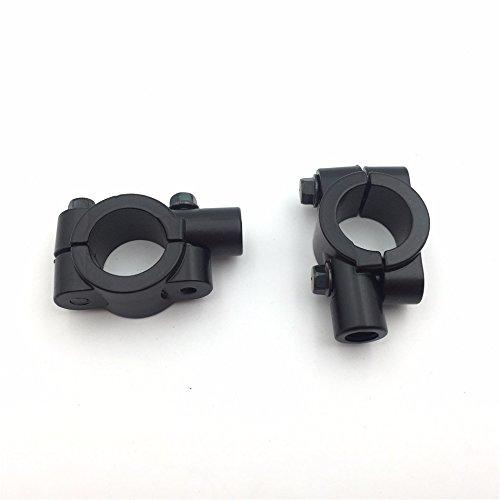 "SMT MOTO- Black 1"" 25mm Motorcycle HandleBar 10mm Mirror Thread Mount Holder Clamp Adaptor"