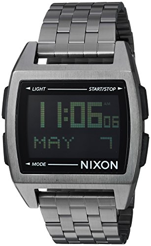 Nixon Men's Base Quartz Watch with Stainless-Steel Strap, Black, 20 (Model: A1107632)