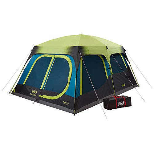(Coleman Cabin Camping Tent with Instant Setup | Dark Room Cabin Tent with 1-Minute Set)