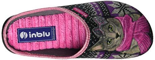 Epoca Donna Retro Inblu 014 nero Pantofole Nero Sul Aperte nB4vAgP
