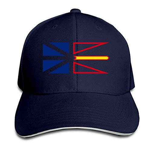 Newfoundland and Labrador Province Flag Sandwich Hats Baseball Cap Hat Snapback Hat Dad Hat Navy