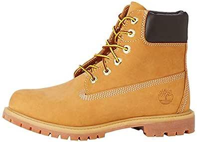Timberland Women's 6-Inch Premium Waterproof Boots, Womens Shoes, Yellow (Wheat Nubuck), 6 US