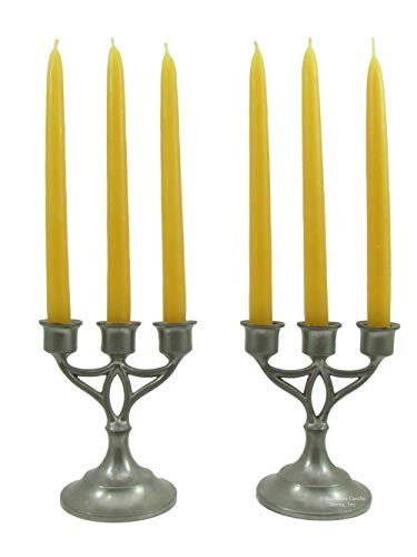 100% Pure USA Beeswax Chanukah Candles (Box of 90) - 5'' x 3/8'' - 90 Minute Burn Time Each