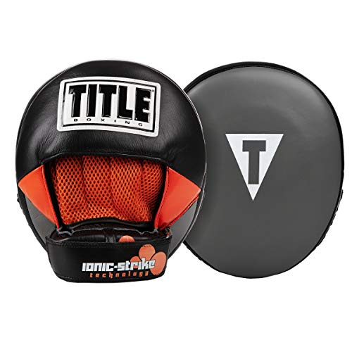 Title Boxing Ionic Strike Punch Mitts, Grey/Orange