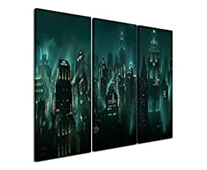 3-Piece Canvas Picture bioshock_rapture_3 x 90 x 40 CM
