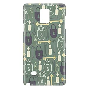 Loud Universe Galaxy Note 5 Love Lock Print 3D Wrap Around Case - Green