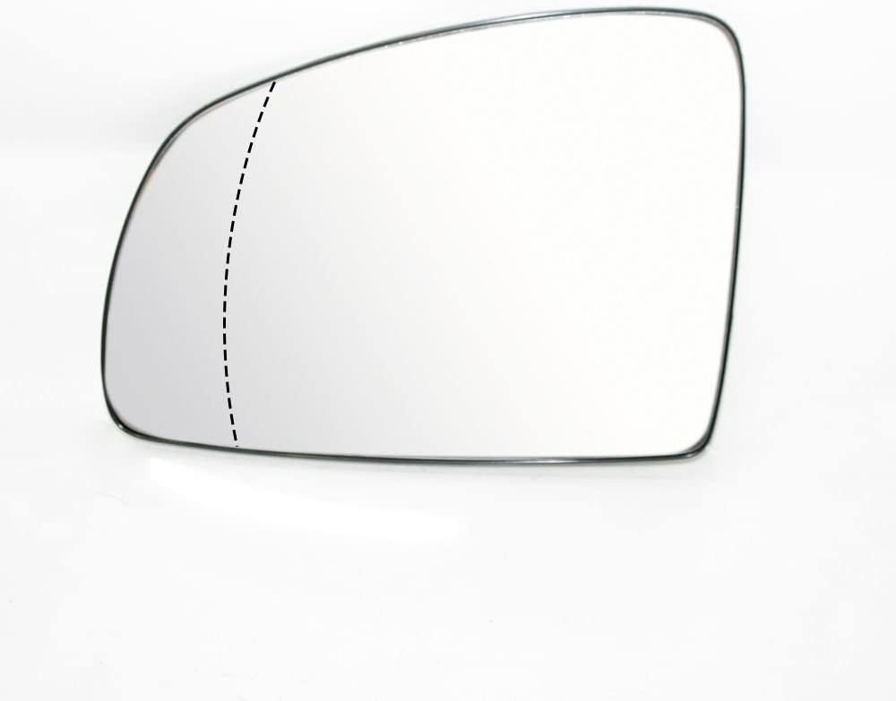 Left Side Wing Mirror Glass Wide Angle Heated Compatible With Meriva 2003-2010 OEM 6428777 13148962