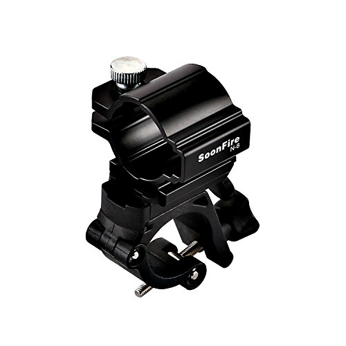 soonfire N8 Universal Bike Bicycle LED Light Flashlight Torch Lamp Mount Clamp Stand Holder,Metro Bicycle Headlight Handlebar Bracket