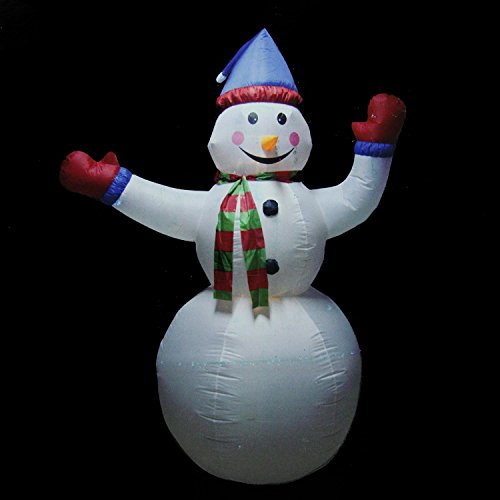 Northlight Animated Inflatable Lighted Standing Snowman Christmas Yard Art Decoration, 8'