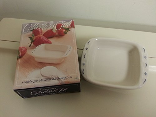 Longaberger Usa Pottery (Longaberger Collector Club Miniature 8 x 8 Baking Dish Pottery New in Box USA Made)