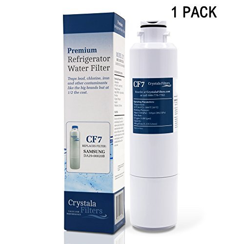 Price comparison product image DA29-00020B Replacement Samsung Refrigerator Water Filter, Crystala Filters Compatible With Fridge HAF-CIN, DA29-00020A, 46-9101,DA29-00019A, Pack of 1