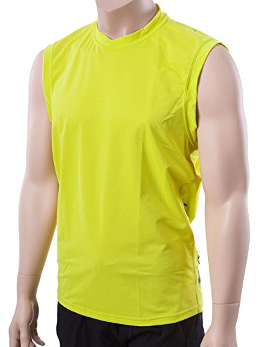XCel Mens Big and Tall Sleeveless Ventx Sun & Swim Shirt LT Safety yellow (4223S)