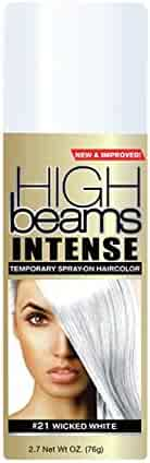 high beams Intense Temporary Spray on Hair Color, Wicked White #21, 2.7 Ounce