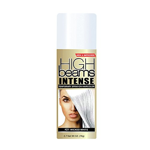 high beams Intense Temporary Spray on Hair Color, Wicked White #21, 2.7 -
