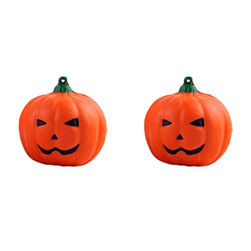 Halloween Super Center (Canghai 2 Pcs Jumbo Squishy Toys Super Slow Rising Pumpkin Kid Halloween Squeeze Toy Stress Reliever Decorative Props)