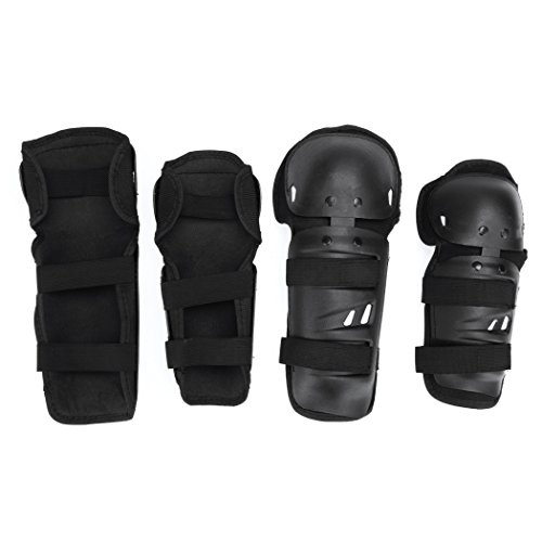 Elbow Pads - All4you 4Pcs Adult BMX Bike Knee Pads Elbow Pads Wrist Guards Protective Gear Set for Biking, Riding, Cycling and Multi Sports, Scooter, Skateboard, Bicycle, Rollerblades by AFYKALIEE