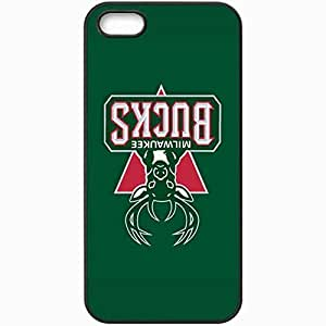Personalized iPhone 5 5S Cell phone Case/Cover Skin Nba Milwaukee Bucks 4 Sport Black
