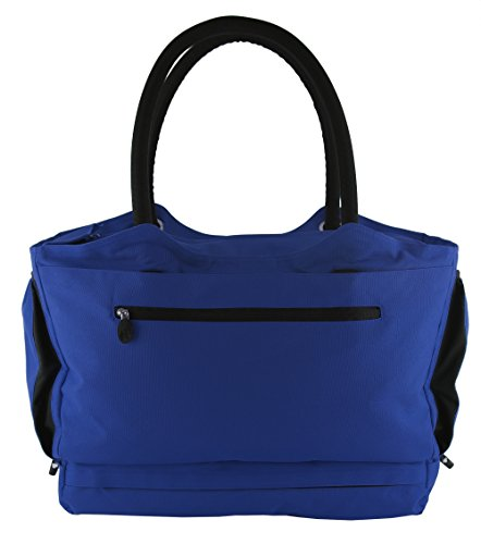 CoolBag Gen 2 Locking Anti-Theft Travel Tote With Insulated Cooler Compartment (Barbados Blue) by CoolBag