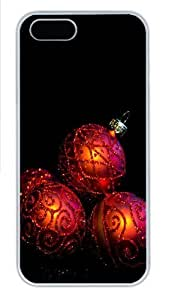 08 20 Christmas Wreath Transparent Clipart Custom iPhone 5s/5 Case Cover Polycarbonate White New Year gift