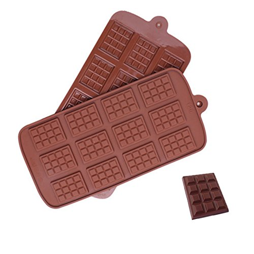 Inn Diary Silicone Break-Apart Chocolate Chip Molds,Candy Ice Cube Protein and Energy Bar mold (Inn Bar)
