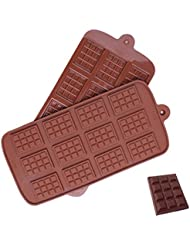 Inn Diary Silicone Break-Apart Chocolate Chip Molds,Candy Ice Cube Protein and Energy Bar mold (2pcs)