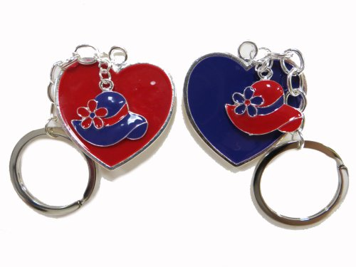 2 Pack Key Chains / Red & Purple Hearts w/ Hats Red Hat Ladies Society ()