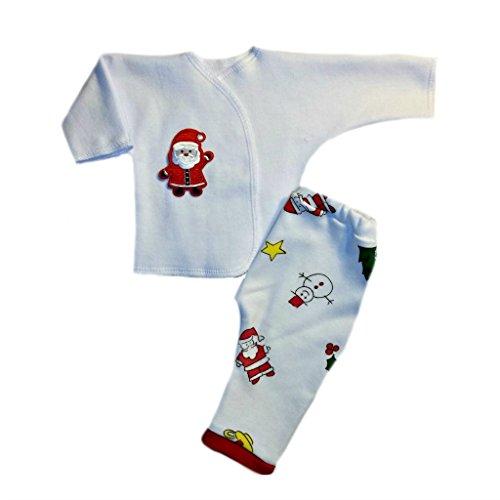 (Jacqui's Unisex Baby Adorable Santa 2 Piece Clothing Set, Preemie)