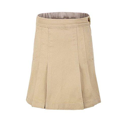 (Bienzoe Little Girl's Twill School Uniforms Pocket Pleated Scooter Skirt Size 6X)