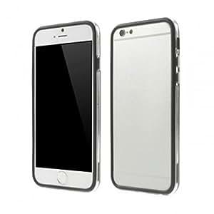 Bumper bicolor flexible para iPhone 6 Plus. Color transparente y negro