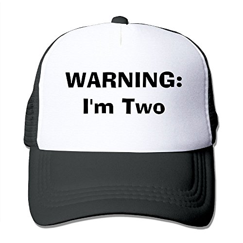 ZhiqianDF Men WARNING I'm Two Funny Golf Black Mesh Hats Adjustable - Ralph Sun Lauren Visor