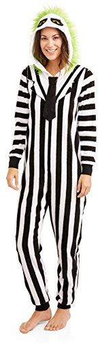 Beetlejuice Women's Sleepwear Onesie Union Suit Pajama (M (8-10)) -