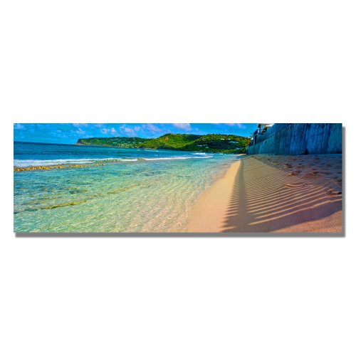 St. Bart's Afternoon by Preston, 12x32-Inch Canvas Wall Art