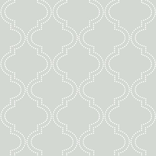 Grey Quatrefoil Peel and Stick Wallpaper